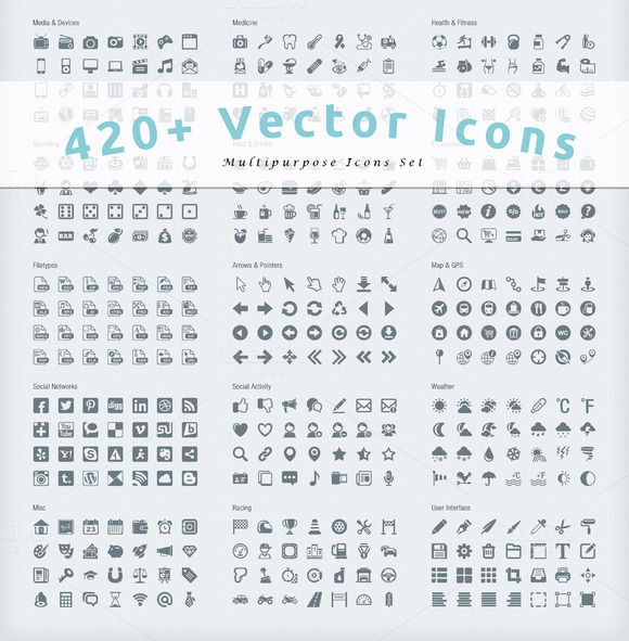 420 Multipurpose Vector Icons