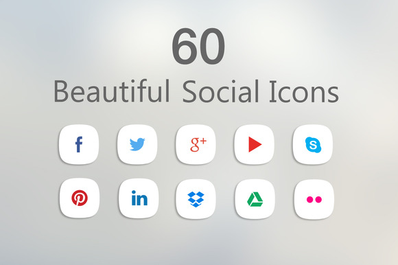 60 Clean Social Icons