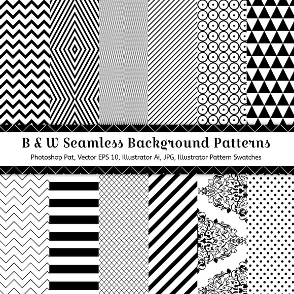 12 Geometric Seamless Patterns