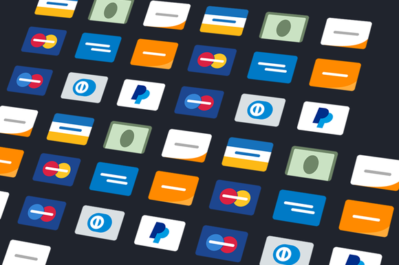 Minimalist Flat Credit Card Icons