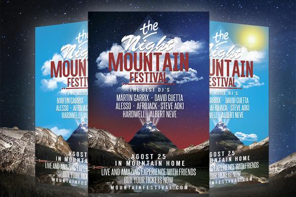 MOUNTAIN FESTIVAL-PARTY FLYER $4