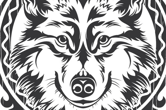 Wolf Vector Frame