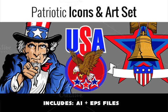 Patriotic Icons Art Set
