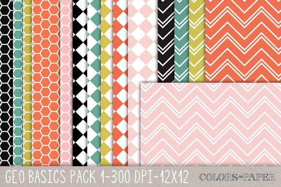 Geo Basics Pk 1 Digital Papers
