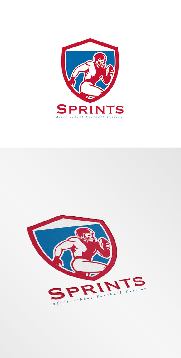 Sprints After School Football Logo