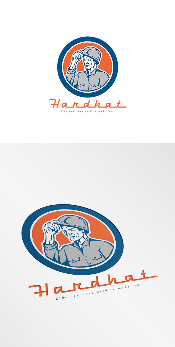 Hardhat Construction Logo