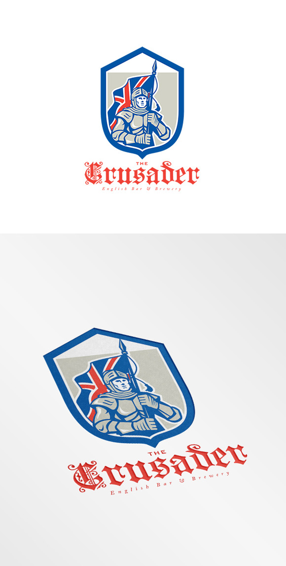 The Crusader English Brewery Logo