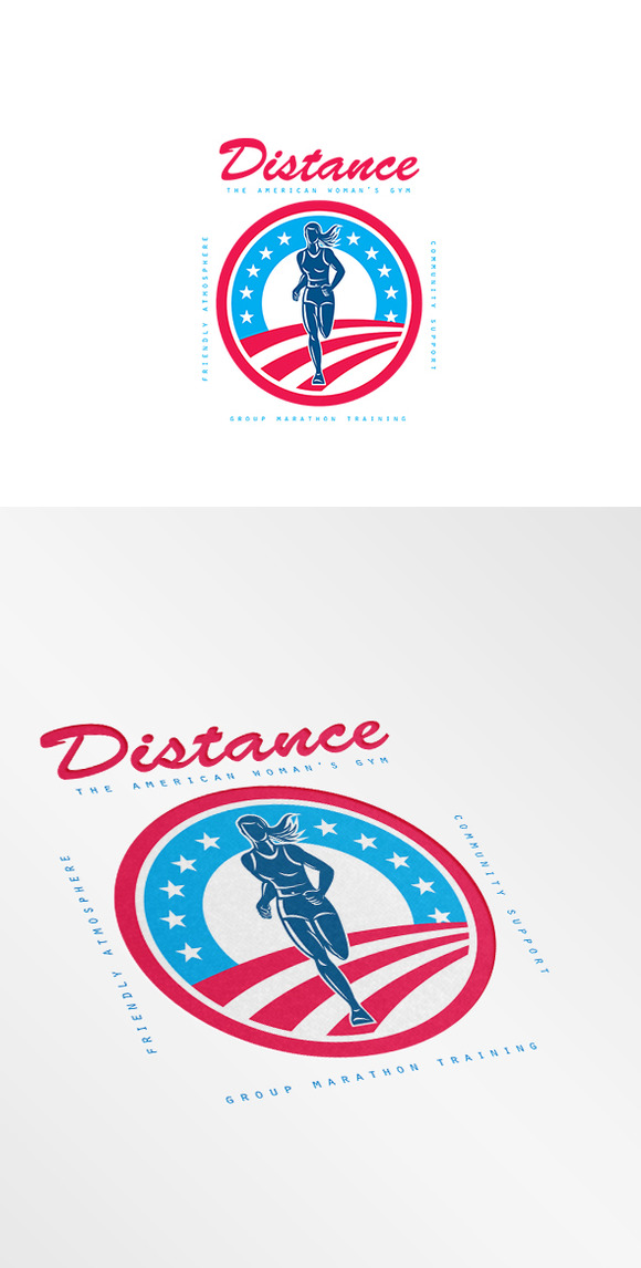 Distance Woman S Gym Logo