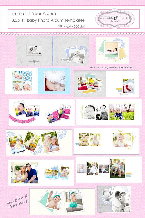 Emma S One Year Album 8.5 X 11 Baby