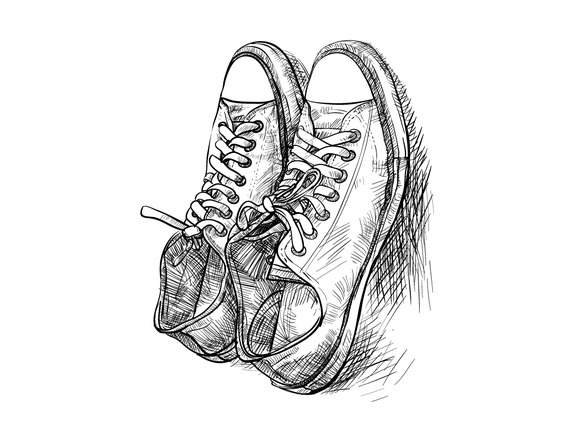 Pair Of Casual Shoes With Shade