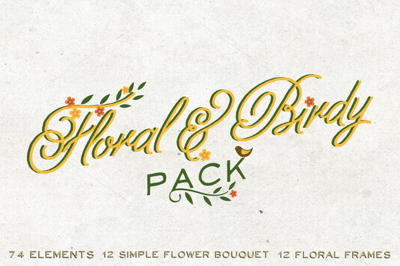 Floral Birdy Pack