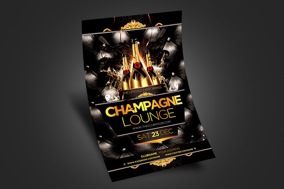 Champagne Lounge Party Flyer