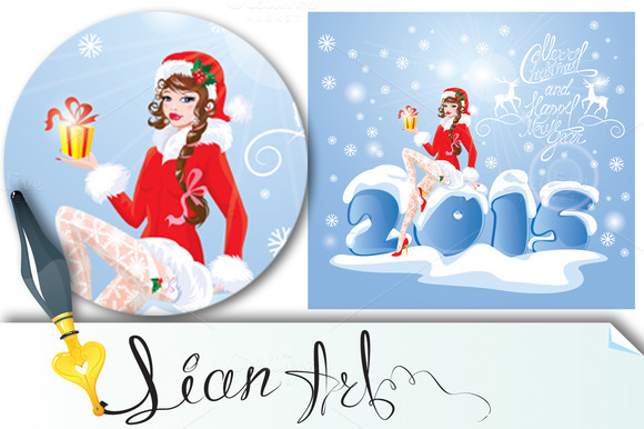 Pin Up Christmas Girl