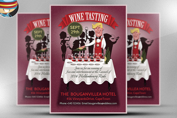 free wine tasting party flyer template designtube creative design