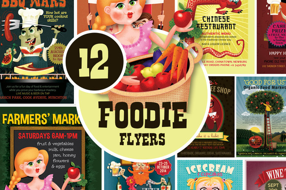 12 Foodie Flyers Bundle