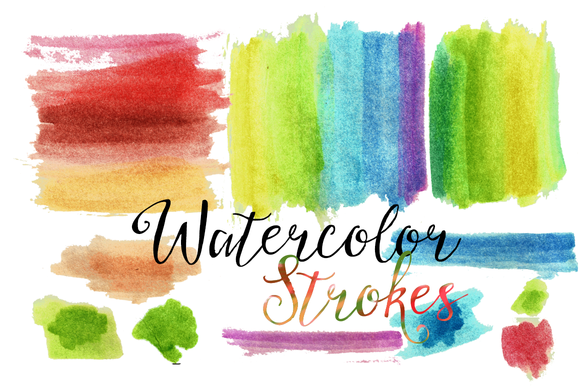 Watercolor Washes Strokes