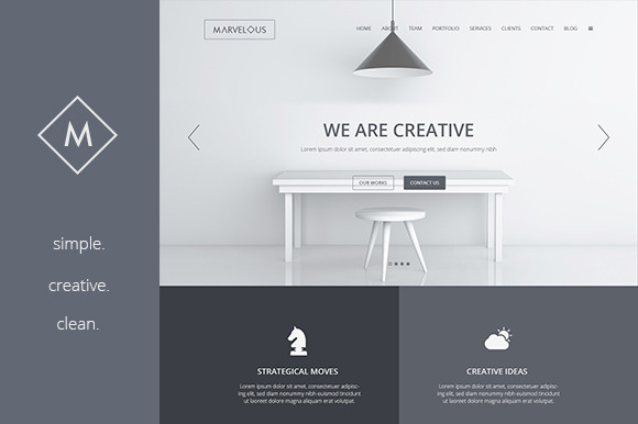 Marvelous Creative PSD Template