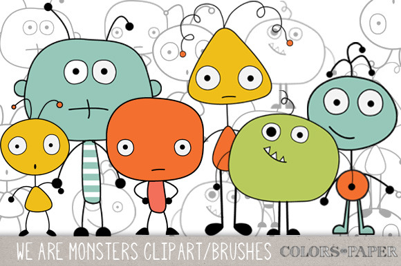 We Are Monsters Clipart Brushes