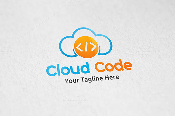 Cloud Code Logo Template