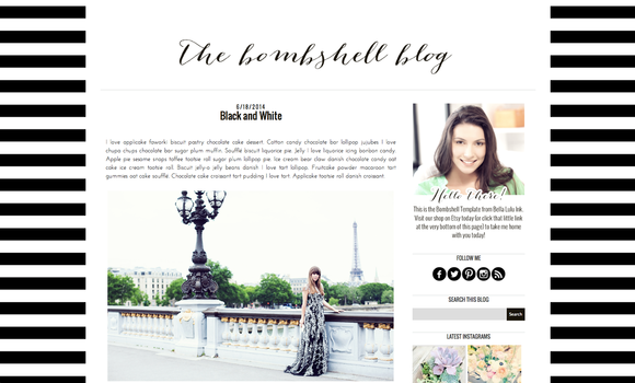 Bombshell Blogger Blog Template