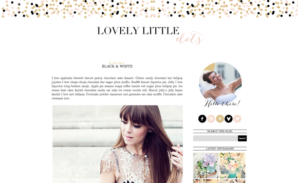 Lovely Little Dots Blogger Template