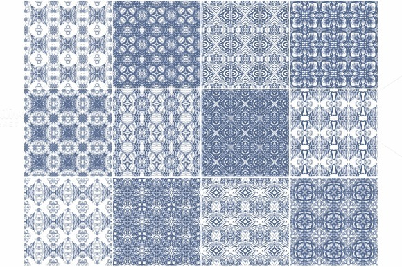 Set Of Seamless Marine Patterns