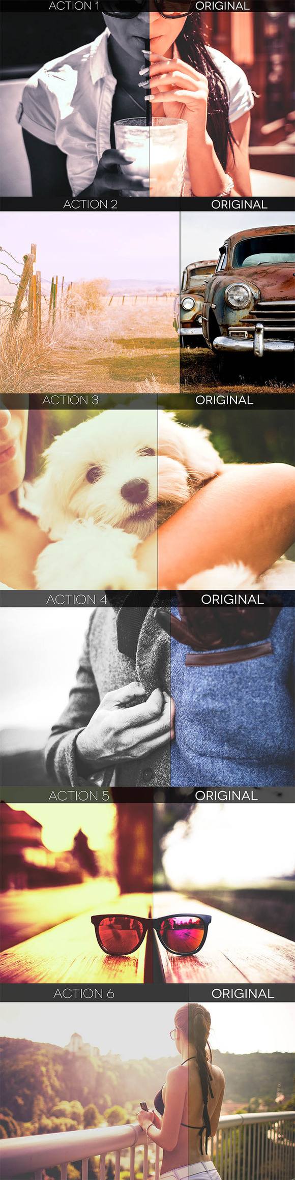 Pure 6Photoshop Actions Photo FXS