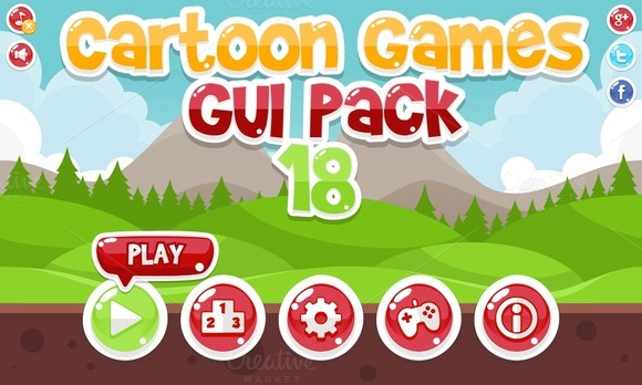 Cartoon Games GUI Pack 18