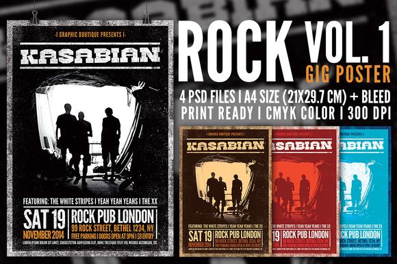 Rock Gig Poster Vol 1