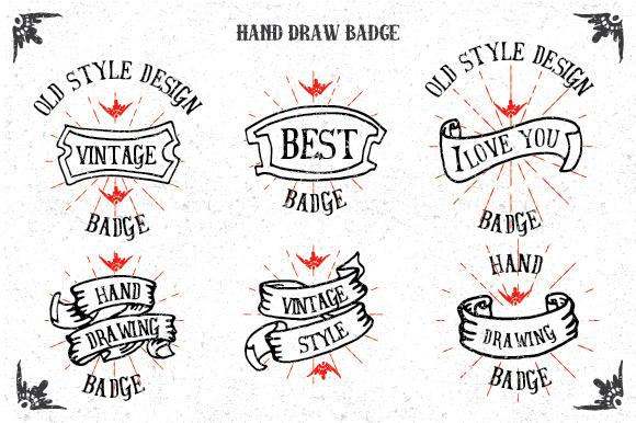 Hand Drawn Badges Vol 2