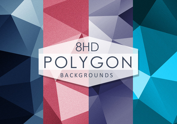 8 HD Polygonal Background Textures
