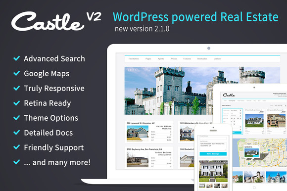Castle Real Estate Wordpress Theme