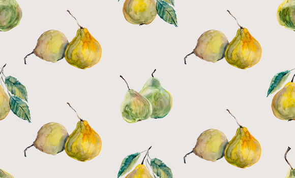 Seamless Background With Pears