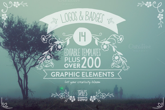 Floral Logo Templates Elements
