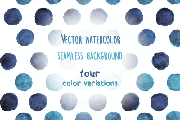 Vector Watercolor Dots Background