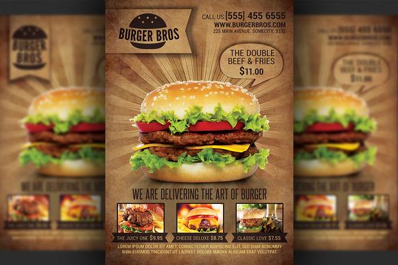 Burger Promotion Flyer Template