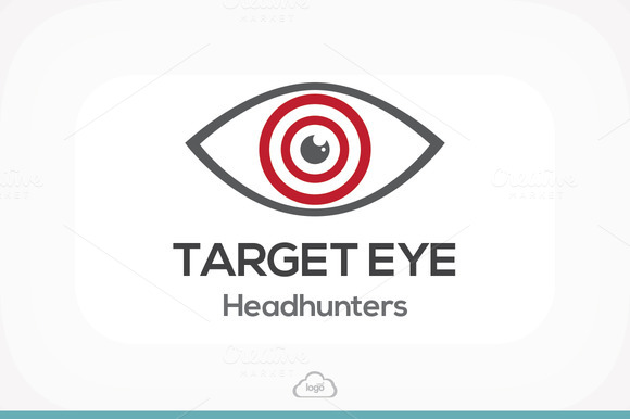 Target Eye Logo Template