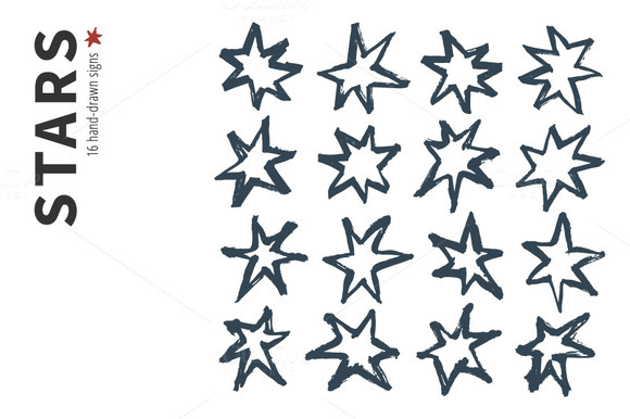 Hand-drawn Stars And Patterns