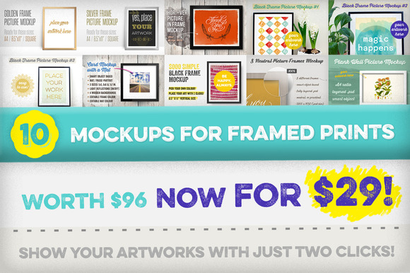 10 Mockups For Framed Prints