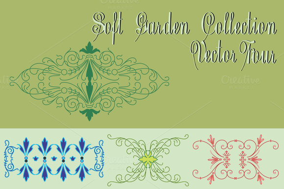 Soft Garden Collection Vector Four