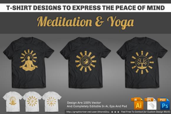 Meditation Yoga T-Shirt Designs