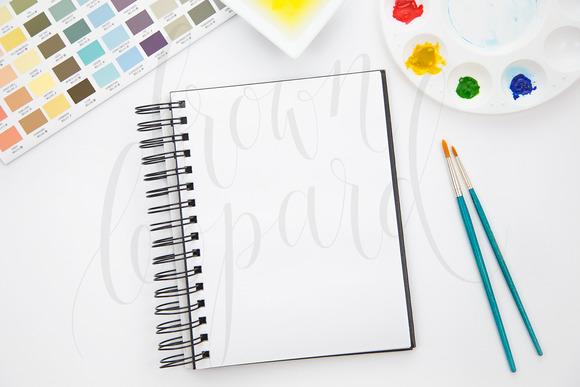 Mock-up For Artwork Watercolor Art