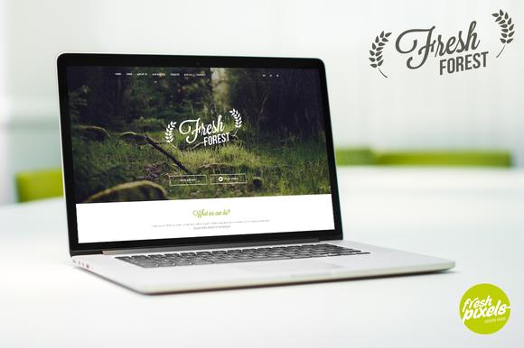 FreshForest OnePage PSD Template