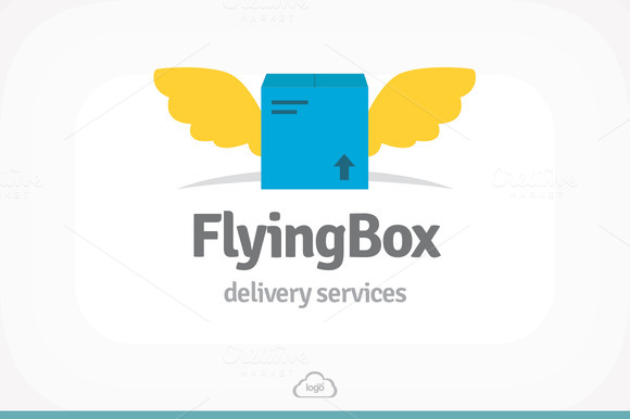 Flying Box Logo Template