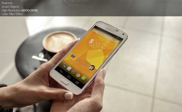 Samsung Galaxy S5 Android Mockup