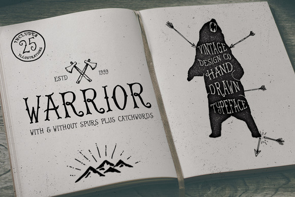 Warrior Hand Drawn Typeface