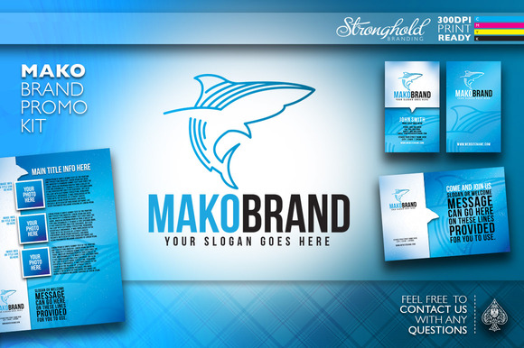 Shark Logo Brand Promo Kit
