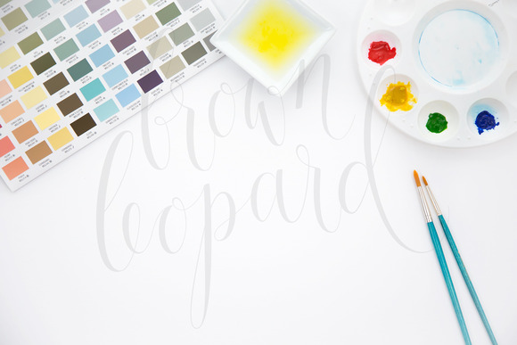 Mock-up For Artwork Watercolor Art