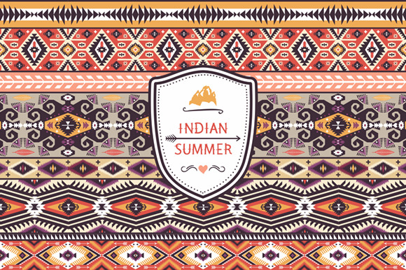 Ethnic Print Vector Pattern