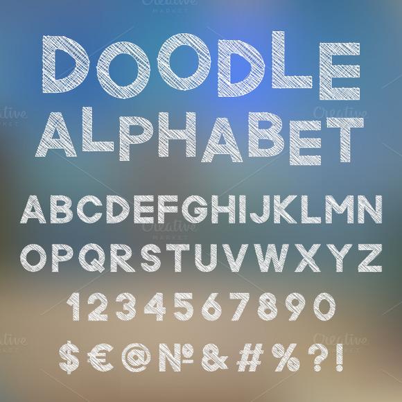 Decorative Doodle Alphabet